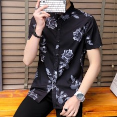 17fa56c58ad Summer Men s Short-sleeved Shirt Korean Style Men s Wear Trend Handsome Slim  Fit Shirt Summer