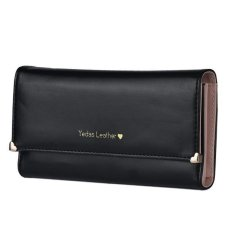 Lady Women Clutch Long Purse Leather Wallet Credit Card Holder Bags Gift Black - intl