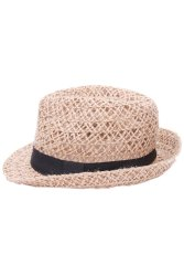 Lalang Fedora Jazz Straw Hat (Brown)