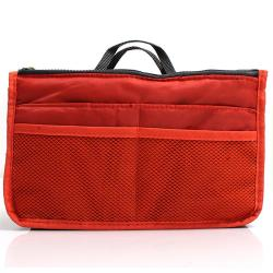 LALANG Makeup Organizer Cosmetic Nylon Zipper Handbag Orange