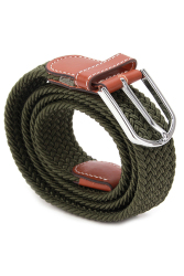 LALANG Men's Elastic Woven Belt (Army Green)