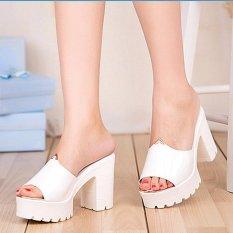 9c71321fccb30b LCFU764 Women s Elegant Sexy High Heels Slides Flip Flops Slippers Wedge  Platform Antiskid Beach Shoes-