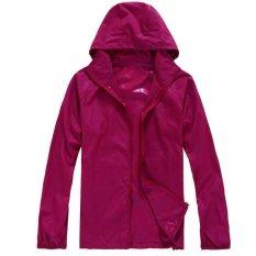 Lightweight Rainwear Active Outdoor Hoodie Cycling Running Windbreaker  Jacket Burgundy - intl