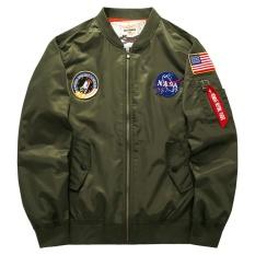 bec940ab8854d LIMENG 2017 Men Pilot NASA Bomber Winter Jackets Coats Baseball Coat Mens  Clothing Stand Collar Outerwear