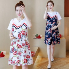 9dd5b66b8ebe6 Maternity Clothes Summer Wear 2019 New Style Korean Style Floral Print  Strapped dress for women Fashion