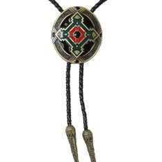 MagiDeal Fashion Indian Totem Western Cowboy Rodeo Bolo Tie Tie Bola Pendant Necklace - intl