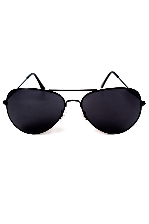 Maldives Unisex Harper Sunglasses (Black) - thumbnail