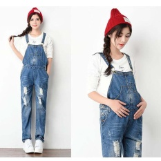 8ee2f6fdc7a Maternity Clothing Pants Denim Overalls Pregnancy Jumpsuits Rompers Pregnant  Plus Size Suspender Trousers (Blue)