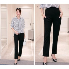 PHP 969. Maternity Formal Work Belly Pants Fashion Pregnancy OL Straight Pants - intlPHP969