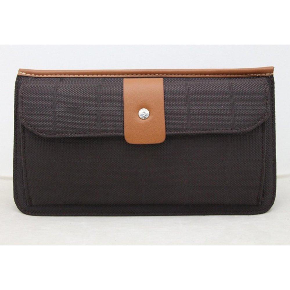 McJIM C-107-3013 Imported Canvas Clutch Bag (Brown/Tan)