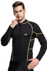 f28266be63 Men 3mm Neoprene Wetsuits Warm Up Long Sleeve Winter Snorkel Scuba Swimwear Men  Diving Swim Wet