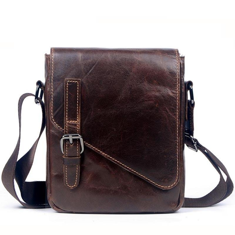 f682bf0db9fb Men Small Messenger Bags Men Luxury Genuine Leather Men Bag Designer  Vintage Shoulder Bag Office Gift