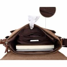 a7ab38ca6e9 Men Vintage Canvas Messenger Shoulder Bag Crossbody Sling School Bags  Satchel CO - intl