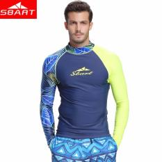 e6258c2c0d785c Men's long-sleeved rash guard shirt wetsuit sunscreen digital printing long-sleeved  swimwear T