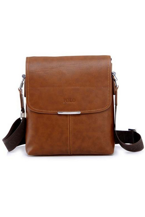 Men's Classic PU Leather bag Light Brown - thumbnail