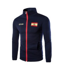 Mens Fashion Casual Printing Sweater Korean Sports Jacket Navy - Intl By Sircool.