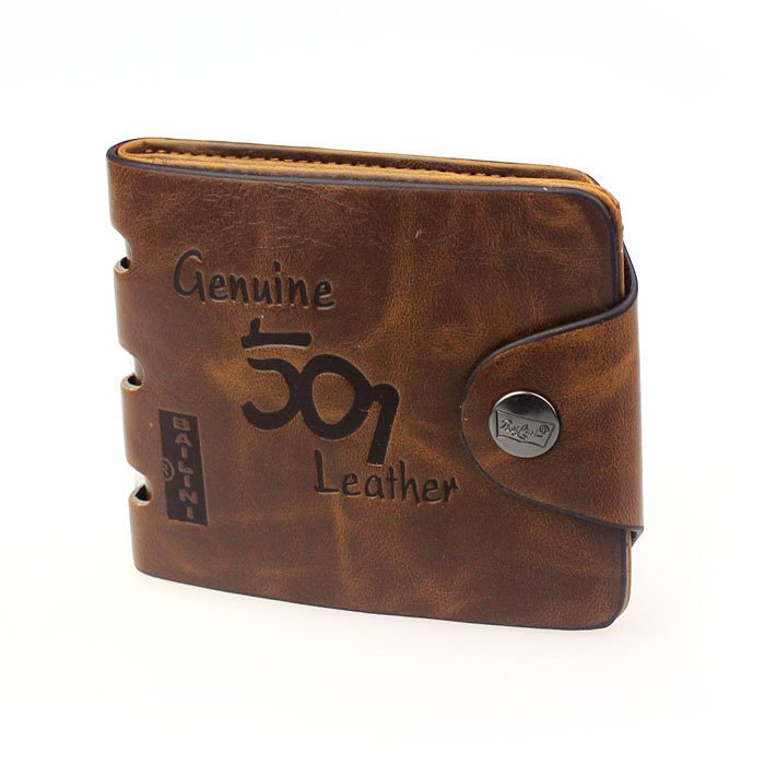 Mens Genuine Leather Bifold Wallet product preview, discount at cheapest price