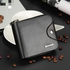 ... Mens Leather ID Card Holder Billfold Zip Purse Wallet Handbag Clutch intl