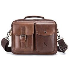 e9d714a5f150 Mens Leather Messenger Bag Retro Laptop Bag Business Briefcase Shoulder Bag  - intl