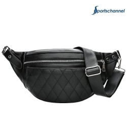 Men/Women Zipper Waist Satchel Crossbody Pack PU Leather Pouch Shoulder Bag - intl