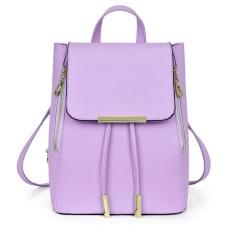 Moonar Fashion Women Girl School PU Leather Shoulder Bag Backpack Travel Rucksack Purse - intl