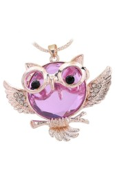 Moonar Owl Pendant Light Purple