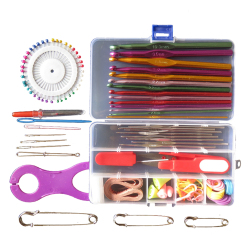 Multicolour Metal  Full Set Crocheted Sweater Tools