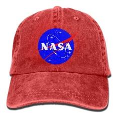 NASA Insignia Logo Vintage Washed Dyed Cotton Adjustable Denim Cap Low  Profile - intl 76915077e129