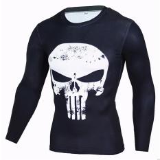 New 2017 Fitness MMA Compression Shirt Men Long Sleeve Superman 3D Printed T -shirt Superhero