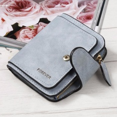 New Fashion Women Girls Lady PU Button Zipper Solid Money Bag Purse Wallet - intlPHP579 · PHP 579