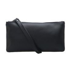 New HAndbAg FAshion Women PU LeAther Zipper Purse Mini Coin BAg ( BlAck ) - intl