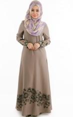 ff8c7c7ce8 New Muslimah Jubah Kaftan Jilbab Islamic Cocktail Dress Chiffon Long  Sleeves Floral Printed Embroidered Maxi Dress