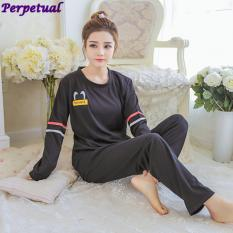 51796a0d47 New Style Spring Autumn Winter Long Sleeves Ladies Pajamas Suit Women  Fashion Cute Cartoon Casual Large