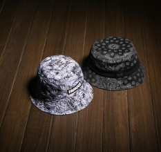 407b5bbb New Summer Black White Coconut Tree Bucket Hats Fishing Caps For Mens(white)  -