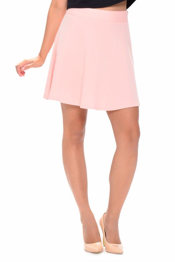 NEXT 3307  Fleece Garterized Skater Skirt (Light Pink)