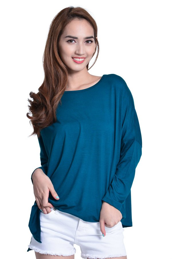 Next 92-006 Loose Uneven Cut Top (Green) product preview, discount at cheapest price