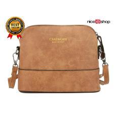 PHP 369 niceEshop Women Vintage Frosted PU Leather Messenger Bag, Light ...