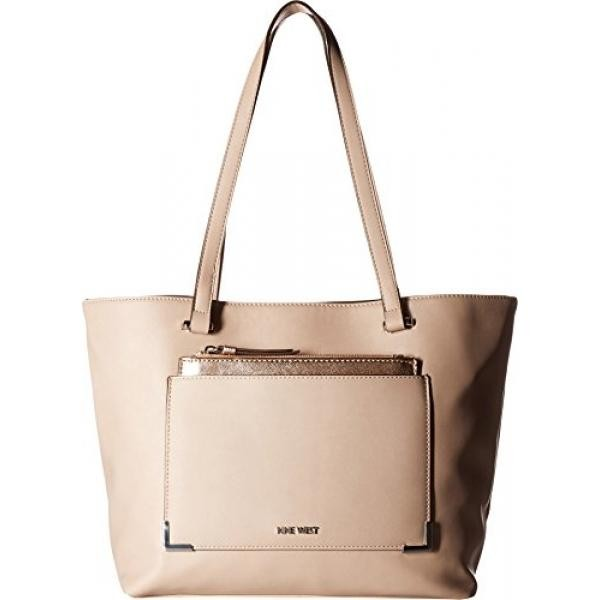 60b69198e3 Nine West Womens Alinne Tote Cashmere Metallic Rose Gold One Size - intl