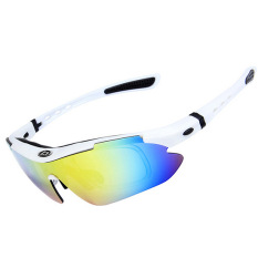 ffba64f0da OBAOLAY Polarized UV400 Protection Sports Cycling Sunglasses with 5  Exchangeable Lenses - Intl