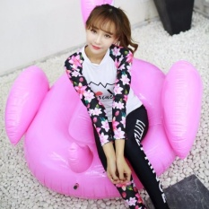 Ocean NEW Lady Diving suit fission bathing suit Long sleeve+trousers Hot spring bathing suitWhite
