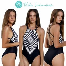 2759f322269 One Piece Monokini Printed Swimwear Strappy Sexy Back Swimsuit Women's  Swimwear Set Bathingsuit Swim Suit Women Swimwear