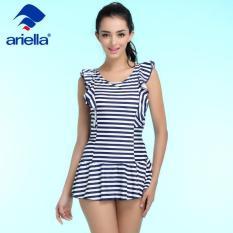 e3e6399b62b One Piece Swimsuit Women Bathing Suits Vintage Summer Beach Wear Swim Suit  Stripe Plus Size Swimwearari