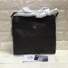 d710b9a41a3524 Original bill Coach Crossbody Signature Brown Sling Bag In Black Outline