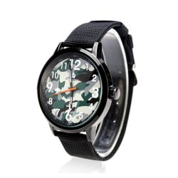 Orkina Army Men's Black Nylon Canvas Strap Wrist Watch ORK-099