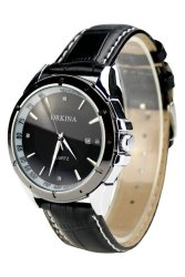 Orkina Business Men's Black Leather Strap Wrist Watch ORK-124