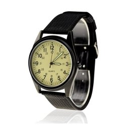 Orkina Fashion Men's Black Nylon Canvas Strap Wrist Watch ORK-072