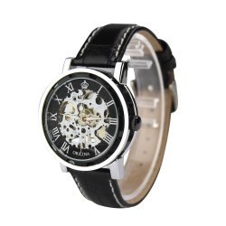 Orkina ORK-0153 Wrist Watch (Black)