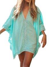 OSEM Women Loose Kimono Oversized Swimwear Beach Cover Up (Green) - intl