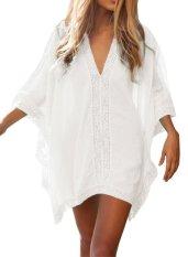 OSEM Women Loose Kimono Oversized Swimwear Beach Cover Up (White) - intl