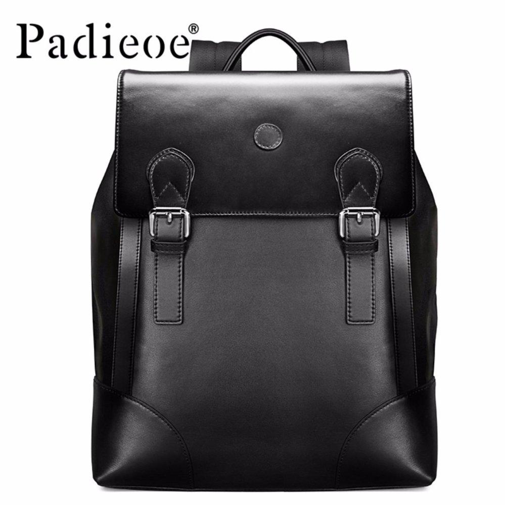 e73b63ba2677 Padieoe New arrival Korean Style Men s Schoolbag High-end Genuine Leather  Backpack Fashion School Male